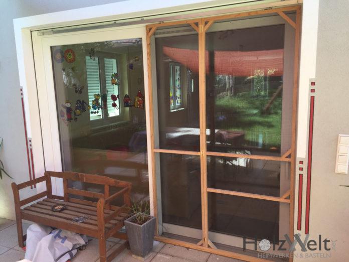 fliegengitter f r 3m terassent r selber bauen. Black Bedroom Furniture Sets. Home Design Ideas